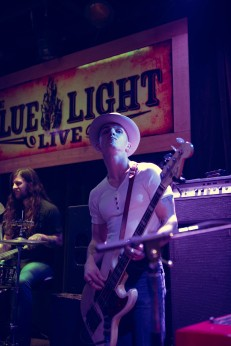 Chase McGillis at Blue Light in Lubbock, Texas on March 06 . Photography by Susan Marinello/New Slang.