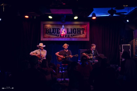 Red Shahan, Charlie Shafter, and Rodney Parker at The Blue Light. Photograph by Susan Marinello/New Slang.