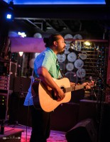 Dave Martinez at The Blue Light. Photograph by Susan Marinello/New Slang.